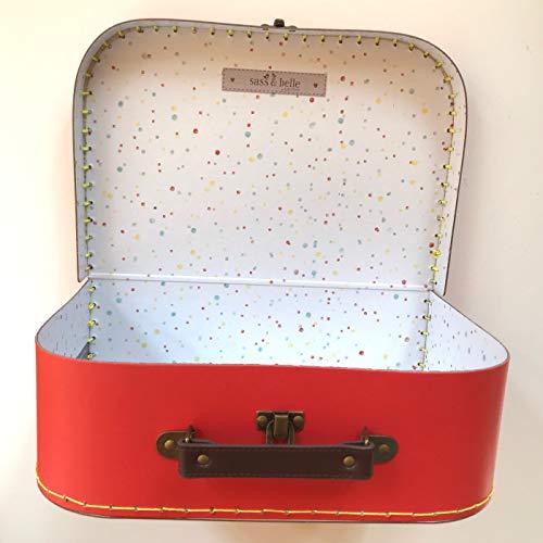 Sass and Belle Koffer/Kinderkoffer/Puppenkoffer/Aufbewahrungsbox. Pappkoffer, 3 Verschiedene Größen. (Retro Bunt, Groß)