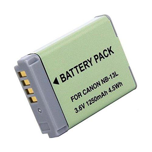 1 Piezas 1250 mAh NB-13L NB13L Batería para Canon G5X / G5X Mark II / G7X / G7X Mark II / G7 X Mark III G9X SX620 HS SX720 HS Camera (1 pcs Battery)