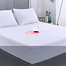 Mattress Protector Twin Waterproof Twin Size Mattress Cover Washable Noiseless Premium Soft Cotton Terry Vinyl-Free Matressprotector Twin for Pets Kids Adults 38