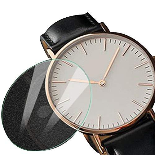 30 mm Universal-Uhrenschutzfolie, rund, gehärtetes Glas, Displayschutzfolie für Smartwatch, Kratzfest