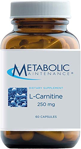 Metabolic Maintenance L-Carnitine - Pure 250mg Amino Acid Supplement, No Fillers - Supports Energy, Fat Metabolism, Cardiovascular Health, Athletic Performance + Recovery (60 Capsules)