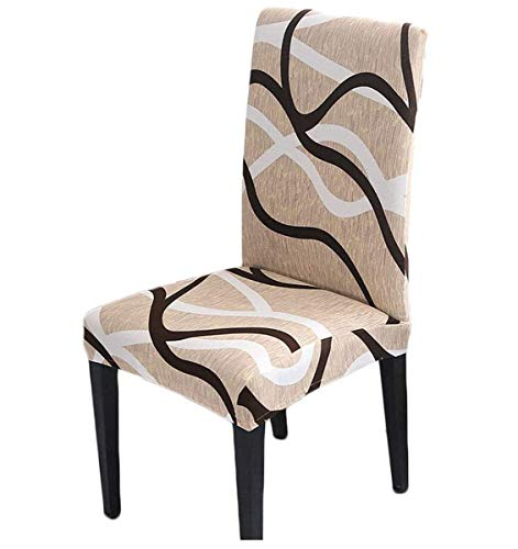 HZDHCLH 4 Pack Chair Covers for Dining Room,Stretch Spandex Removable Washable Anti-dust Seat Slipcover, Protector for Hotel,Office,Ceremony,Banquet...