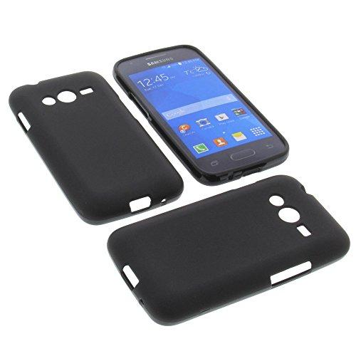 foto-kontor Tasche für Samsung Galaxy Ace 4 Gummi TPU Schutz Hülle Handytasche schwarz