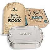 LULEYA® Premium Edelstahl Lunchbox Brotdose - Individuell Einstellbar mit 2x Trenner - Auslaufsicher dank hochwertigem Dichtungsring - Rostfrei, Langlebig & Geschmacks-Geruchs-Neutral - Groß 1400ml