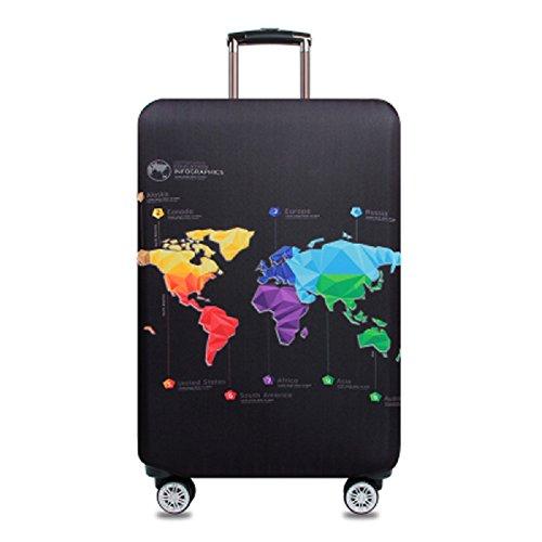 Elastico Cover Proteggi Valigia, Spandex viaggio bagagli coprire Copri Valigia Anti-Polvere Copertura Per Valigia (Map, XL)