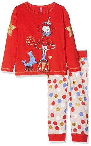 Lina Pink Baby-Mädchen Bf.cir.pl2 Zweiteiliger Schlafanzug, Rot (Rouge/Peche Rouge/Peche), 4 Jahre (Herstellergröße: 04 y)
