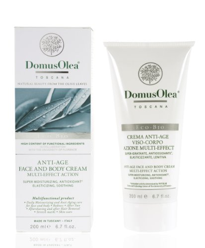 Domus Olea Toscana Organic Cosmeceutical Multi-Effect Face and Body Cream 200 ml