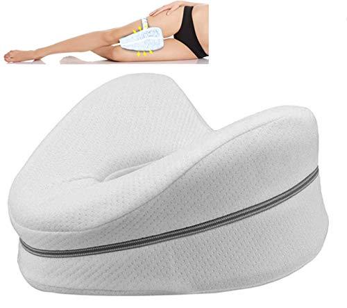 Orthopädisches Kniekissen für Beine und Knie, Schaumstoff-Stützkissen – beruhigende Schmerzlinderung bei Ischias, Rücken, Hüfte, Knie, Gelenke und Schwangerschaft (whit001)