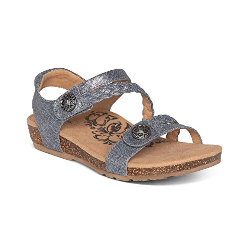 Aetrex Jillian Braided Quarter Strap Arch Support Sandal