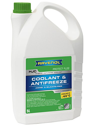 RAVENOL J4D2092-1 HJC compatible con refrigerante FL22 Anticongelante Premix (refrigerante híbrido de vehículos japoneses) (5 litros)