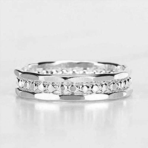 stacking rings silver Silver Stacking Ring Set of 3 Stackable Rings Hammered stacking jewelry stacking ring band stacking band set of 3