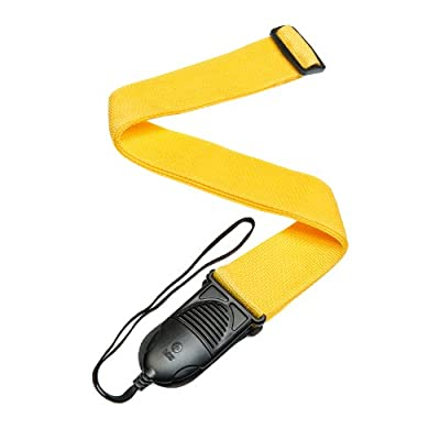 Yellow Nylon Quick Relase Acoustic Guitar Strap