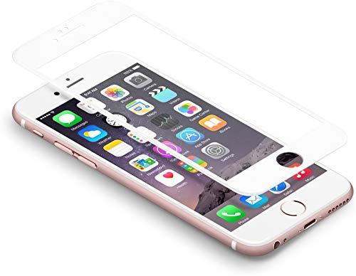 """iPhone 6s 6 Schutzfolie,Coolreall® Full Screen Curved Panzerglas für iPhone 6s 6 4,7"""",[9H Härtegrad,3D-Touch kompatibel](Weiß)"""