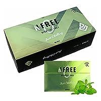 NFREE エヌフリー ニコチン0 ニコチンゼロ 加熱式タバコ 互換機 加熱式 茶葉 スティック 禁煙 タバコ 禁煙グッズ (ミント, 10箱 【1カートン】)