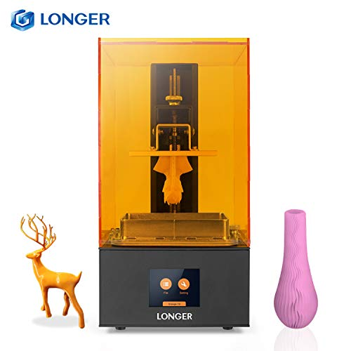 Leepus Imprimante de résine LCD UV 10 Orange Photocuring 3D Printer avec écran Tactile Couleur de 2,8 Pouces Impression Hors Ligne Tranchage Rapide Prise en Charge Intelligente Avertissement