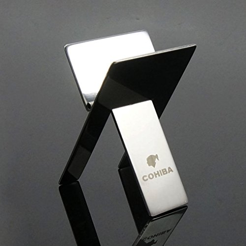Cohiba acero inoxidable plegable puros soporte cenicero Holder w/bolsa
