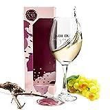 XXL-Weinglas Geschenk für Freundin / beste Freundin Geschenke / Rotweingläser & Weißweingläser als Geburtstagsgeschenk und Geschenkideen für Frauen, Geschenke für Mama, HISA DARIL® (Weil du..)