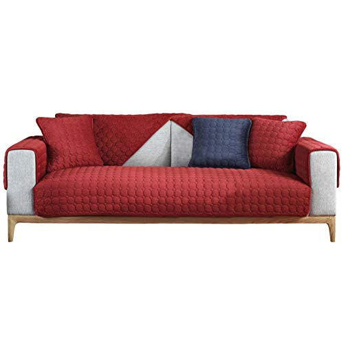 Tapa de sofá de tela Spandex Cojín de sofá for mascotas Simple Color Sólido Cojín de cojín Cubierta de cojín Otoño e invierno Cojín de sofá de pana de invierno para la mayoría de los tipos de sofás