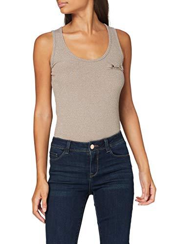Morgan Débardeur Lurex Chaîne Deric Camiseta, Topo/Oro, TM para Mujer