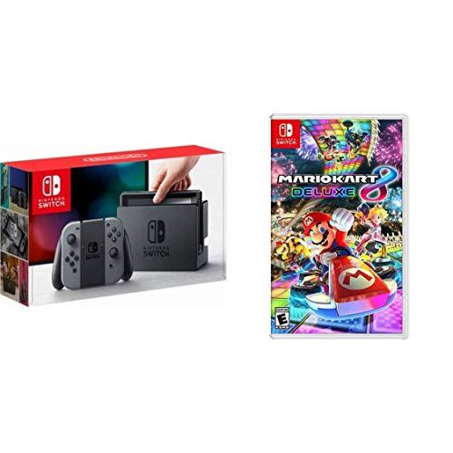 Nintendo Switch Grey + Mario Kart 8 Deluxe - Mario Kart 8...
