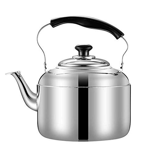 LLine RVS Waterkoker Fluitende Waterkoker Koffie Keuken Kookplaat Inductie voor thuis keuken camping picknick 4L 5L 6L, 6L