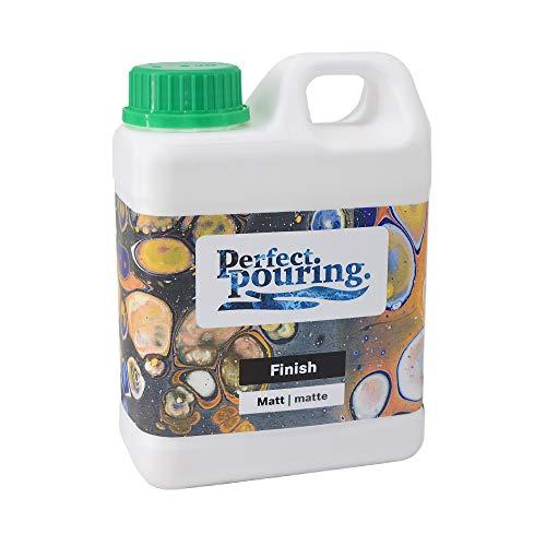 Perfect. pouring. Finish 1 Liter | Klarlack Matt | Versiegelung für Acrylfarbe und Holz