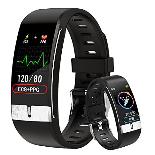 Temperatura Corporea Smartwatch Uomo DigiKuber ECG Orologio Intelligente Donna IP68 Activity Tracker Orologio Contapassi Braccialetto Contapassi Fitness Tracker Cardiofrequenzimetro per Android & iOS
