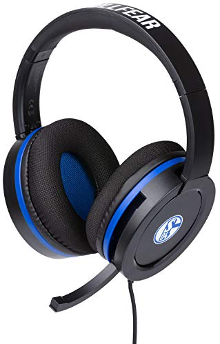 snakebyte Universal Headset Pro - Offiziell lizenziertes FC Schalke 04 Headset - S04 Stereo Kopfhörer mit Mikrofon, 50mm Audio-Treiber - Kompatibel mit PC, PS4, Xbox One, Switch - 3,5mm Audioanschluss