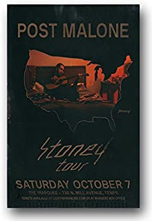 Post Malone Poster - Concert Promo Stoney Tour 2018-11 x 17 inches