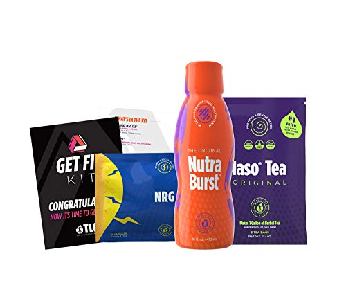 TLC Total Life Changes Get Fit Kit - NutraBurst Liquid Multivitamin - 32 Servings   (1) Month Supply of NRG Dietary Supplement, & (1) Month Supply of Original IASO Natural Herbal Detox Tea Bags