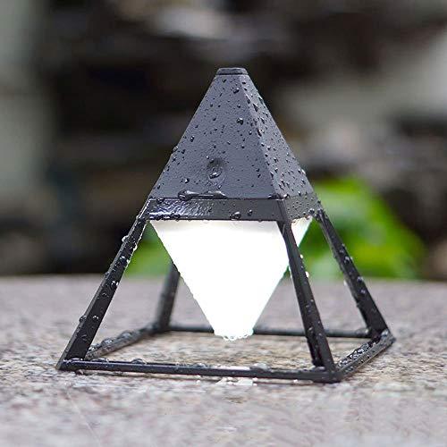B-D Creatieve piramide LED tafellamp bureau licht slaapkamer laad touch sensor lichten nacht nachtlantaarn buiten waterdichte bureaulamp cadeau