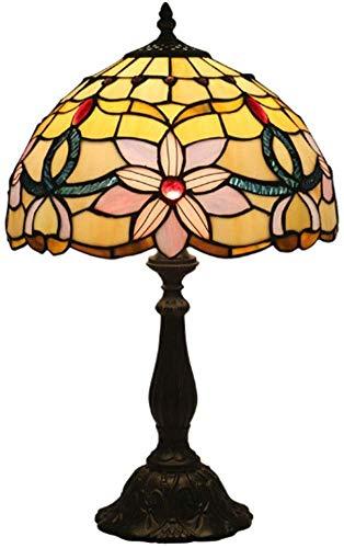 De Tabla De Tiffany De La Vendimia Lámparas De Alto 49 Cm, Mesa De Cristal Lámpara Antigua Original De Tiffany Lámpara del Sitio