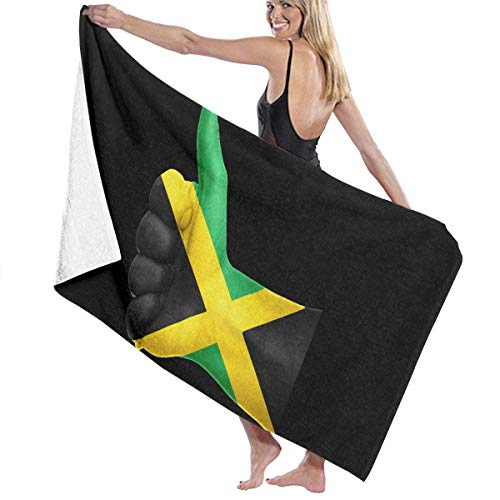 asdew987 Toallas de playa Jamaica Agree With Gestures Toallas de baño para adolescentes niñas adultos toalla de viaje toalla 31 x 51 pulgadas