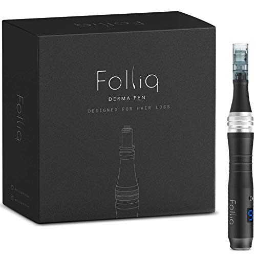 Folliq Mens Microneedling Pen for Hair Loss - Cordless 6-Speed Derma Pen with LCD Display -...