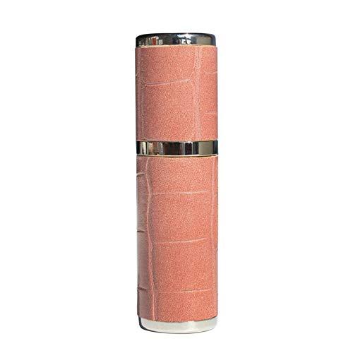 GE&YOBBY Cuero Botella De Perfume,Botella De Perfume Rellenable para Viajes,Portátil Fácil Bomba De Perfume,Botella Vacía para Hombres Y Mujeres con Mini Pocket-Caimán en Polvo de Canela 5ml