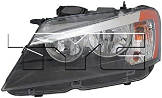 CarLights360: Fits 2011 2012 2013 2014 BMW X3 Headlight Assembly Driver Side (Left) DOT Certified w/Bulbs Halogen Type - Replacement for BM2502170