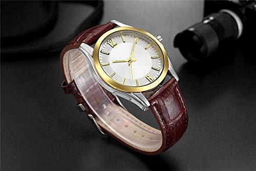 Voigoo Casual Men Uhr-einfachen Big Gesicht Lederarmband Uhren Mann Mode Kleid Geschäfts-Quarz-Armbanduhr-Geschenk-Taktgeber