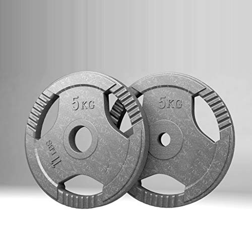 Barbell Pesos Olímpicos placa de revestimiento de goma de 51 mm / 29 mm de abertura de peso for gimnasia entrenamiento de la fuerza de ejercicio físico Trabajar el 1,25 kg / 2,5 kg / 5 kg / 10 kg / 15