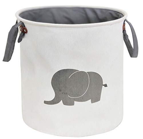 Sweet grape Storage Baskets,Cotton Foldable Round Home Organizer Bin for Baby Nursery,Toys,Laundry,Baby Clothing,Gift Baskets(Elephant)