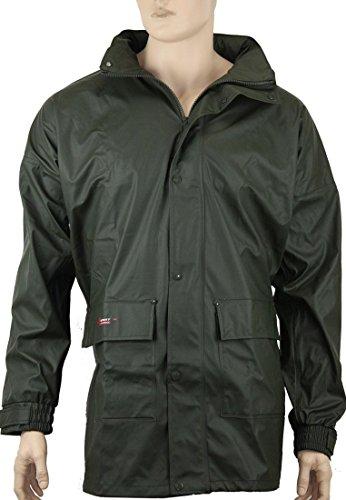 Norway PU Regen-Jacke mit Kapuze - Oliv - Größe: 3XL