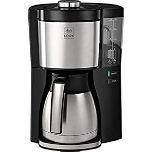Melitta Filter Coffee Machine, Look V Therm Perfection Model, Stainless Steel, Black, Art.No. 1025-16