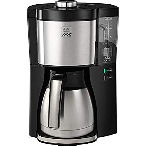 Kaffeemaschine Look V Perfection von Melitta, AromaSelector, 1.25 Liter, schwarz, mit Thermoskanne, voller Kaffeegenuss