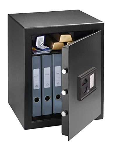 Burg-Wächter Möbeltresor mit elektronischem Zahlenschloss, Home-Safe, Sicherheitsstufe B, Feuerschutz DIN 4102, ECB S-zertifiziert, 45,3 l, 49 kg, H 240 E, Schwarz
