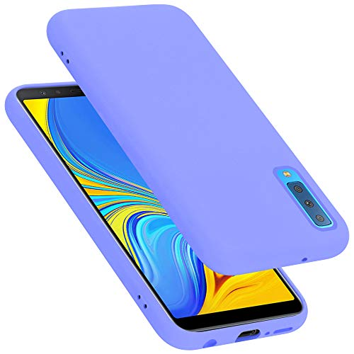 Cadorabo Custodia per Samsung Galaxy A7 2018 / A750 in LIQUID LILA CHIARO - Morbida Cover Protettiva Sottile di Silicone TPU con Bordo Protezione - Ultra Slim Case Antiurto Gel Back Bumper Guscio