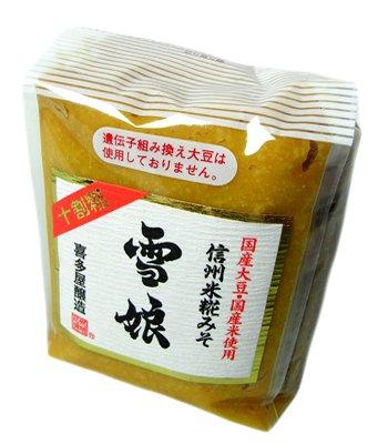信州手造り 高級味噌 米糀みそ 雪娘 白 900g 長野県 喜多屋醸造 十割米糀