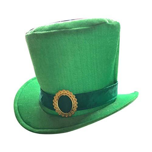 Amosfun St. Patricks dag Ierse hoed klaver groene Shamrock doek hoed St. patricks dag haar accessoires voor St. patricks dag kostuum