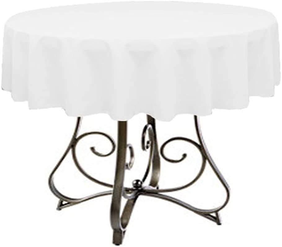 Tablecloth For 48 Round Table By Florida Tablecloth Factory White