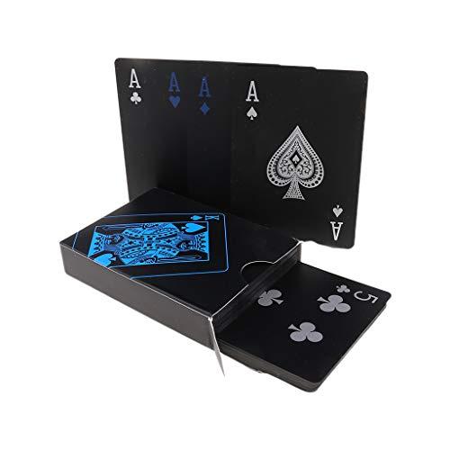 Cartas de juego mágicas negras plásticas impermeables del mago específico
