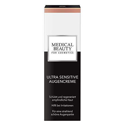 MEDICAL BEAUTY® Ultra Sensitive Augencreme | wirkt gegen Augenringe & Tränensäcke | beruhigt schützt und regeneriert sensible Haut | mit hautidenten Inhaltsstoffen | 15 ml