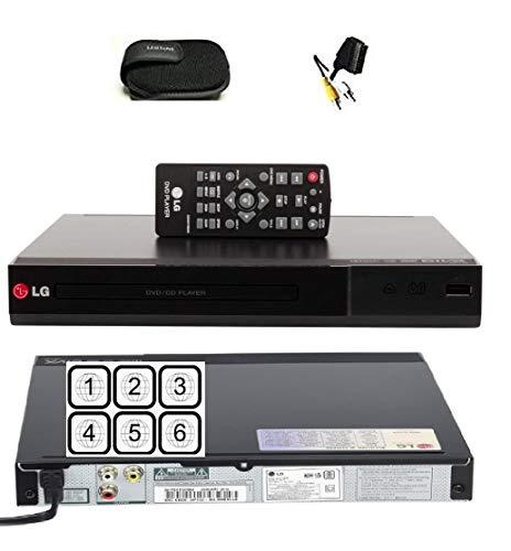 LG DP132 Multiregion DVD Player With USB Plus JPG Playback, MP3, Dolby Digital Support - Parental Lock